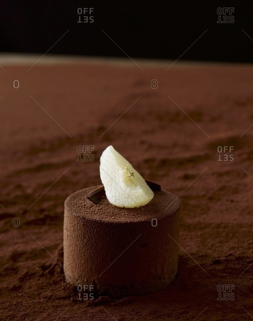 Chocolate fancy with pear