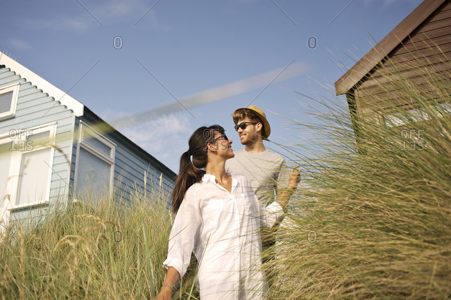 Couple going out for a walk