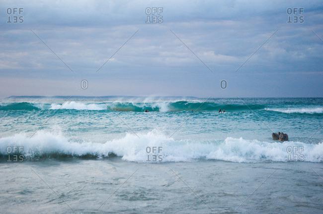 View of a wavy ocean