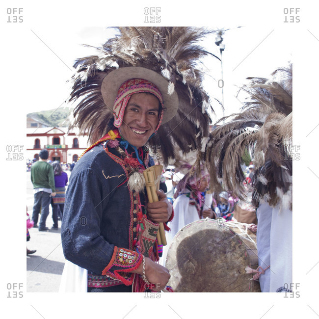 Puno, Peru - February 4, 2012: Man in traditional clothes during the Virgin of Candelaria Feast