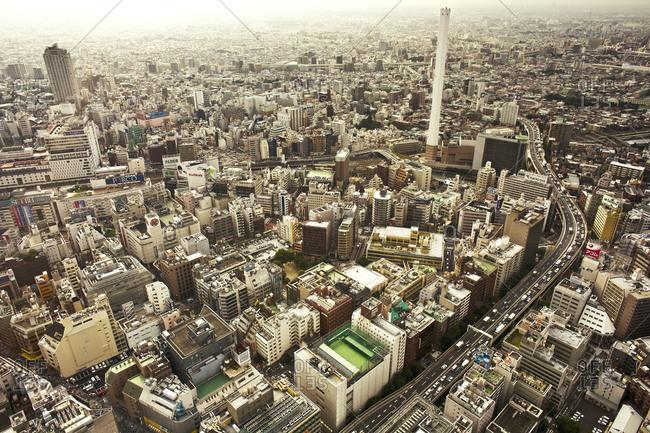 View of Ikebukuro in Tokyo, Japan