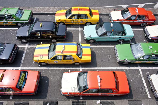 Tokyo, Japan - July 5, 2008: Cabs stuck in traffic