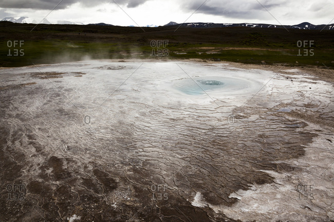 Geothermal area. Hot spring