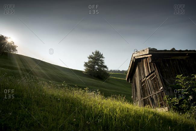 Hay barn, Tyrol, Austria - Offset