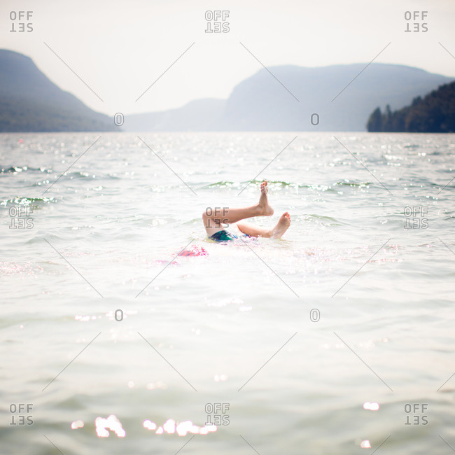 Person diving into the water