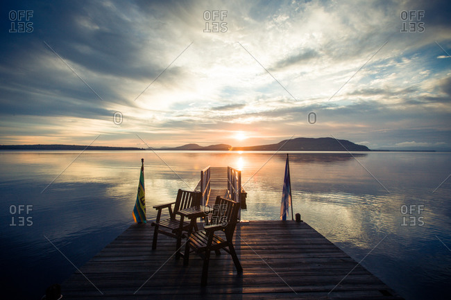 Sunset over Moosehead Lake in Maine