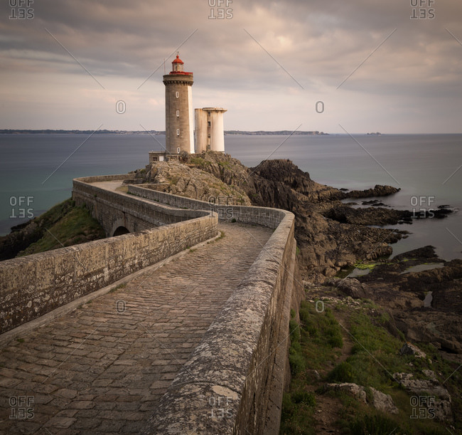 Phare du Petit Minou in the evening, Brittany