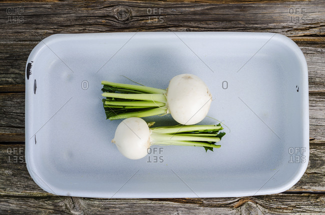 May turnips in a gratin dish