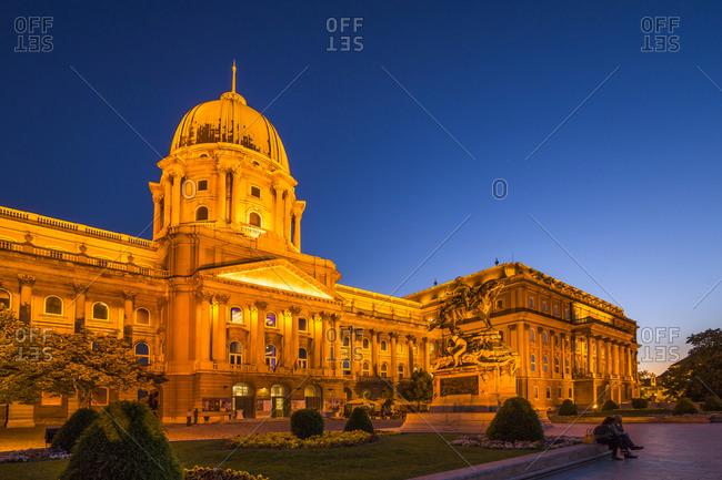 Blue hour, Buda Castle, Budapest