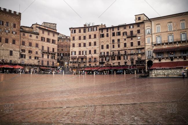 Piazza del Campo by rain, Siena