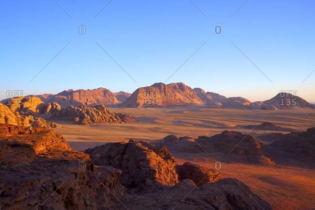 Tourist at Wadi Rum - Offset