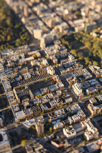 Aerial view of the Upper West Side, NYC, USA