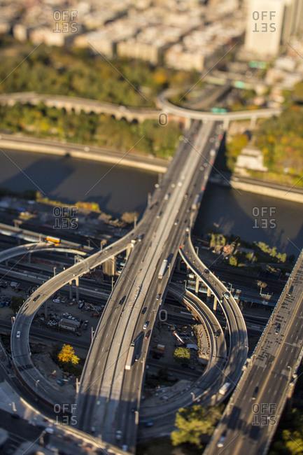 Tilt shift of NYC, USA