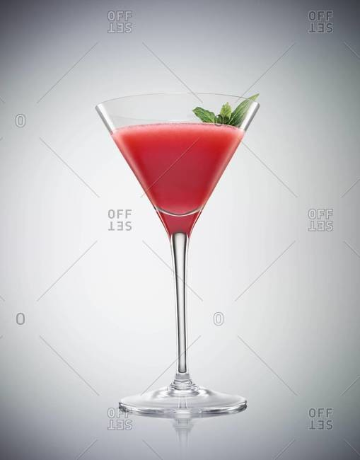 Studio shot of a sea breeze cocktail