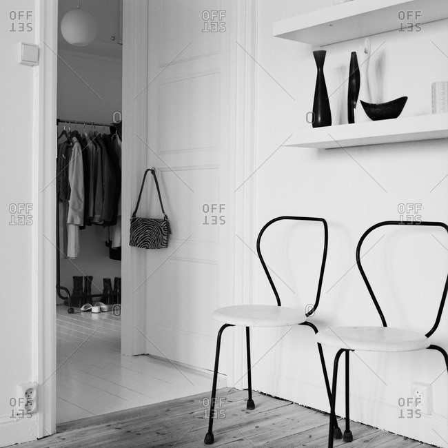 View of walk-in wardrobe