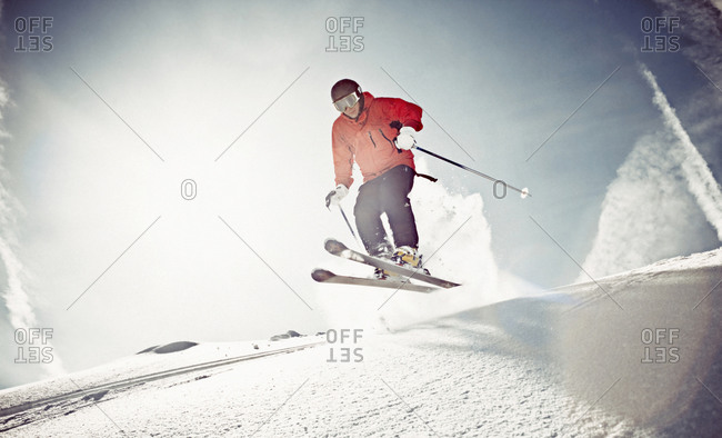 Man off-piste skiing - Offset Collection