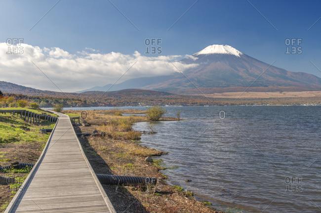 Lake Yamanaka and Mt. Fuji