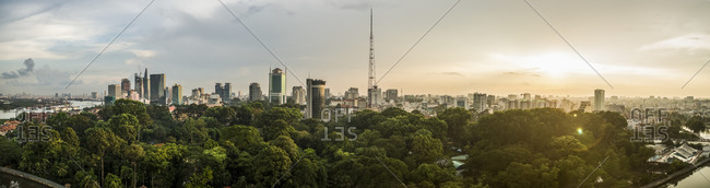 Panorama of Ho Chi Minh City in Vietnam