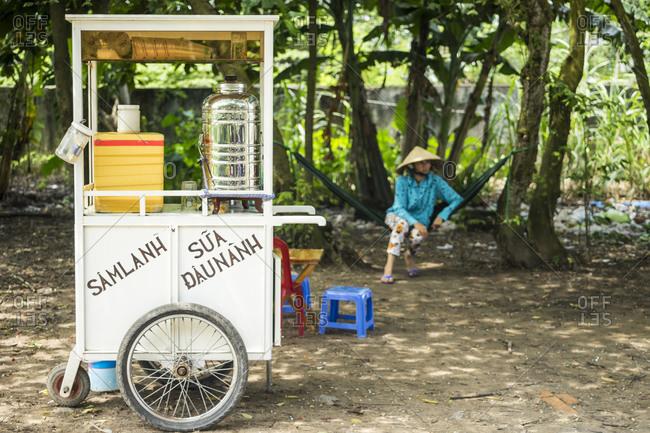 Vendor cart in Rach Gia, Vietnam