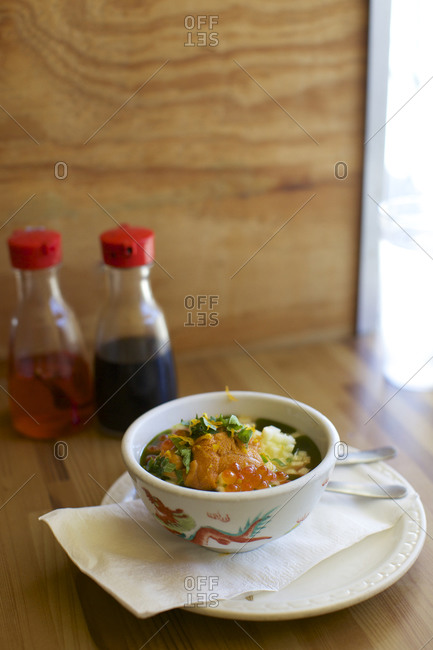 Chinese Food, savory egg custard