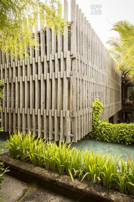 Garden detail in a luxury hotel in Bali