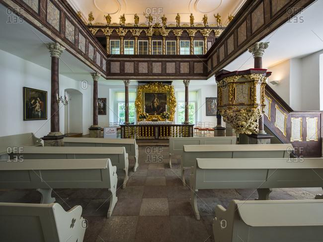 Interior of the Castle Chapel, Eutin, Germany