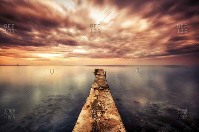 Pier at the ocean - Offset