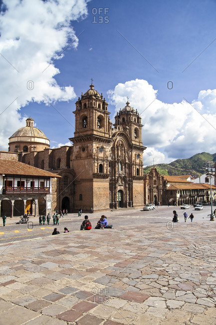 View of the Jesuit Church La Compania de Jesus, Cusco, Peru
