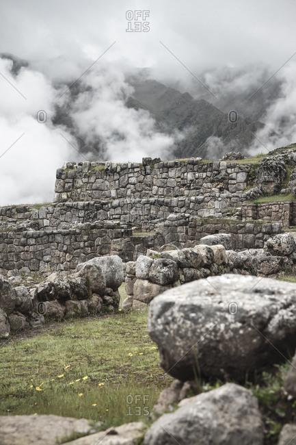 View of Chinchero, Stonewalls, Peru