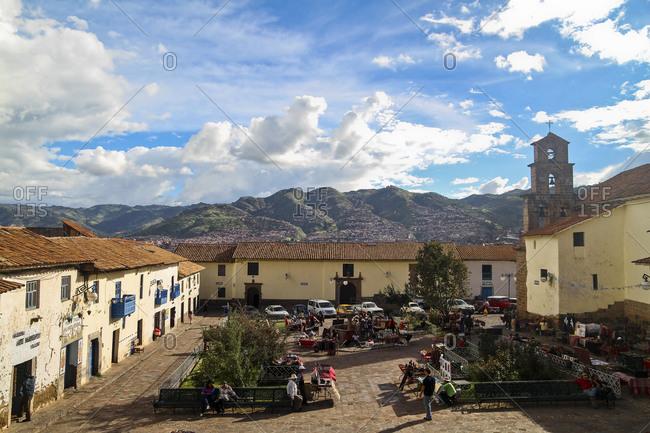 View of the market in San Blas, Cusco, Peru