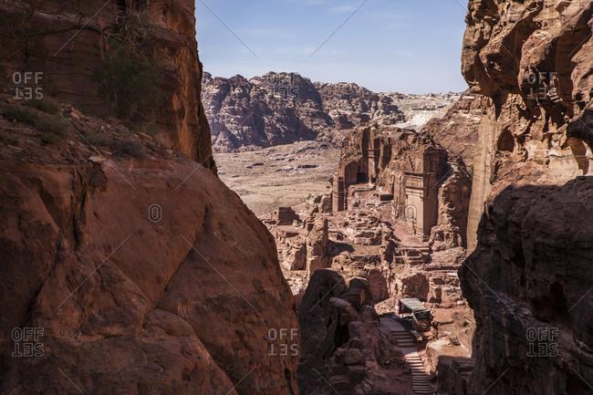 A view of part of the ancient city of Petra, Jordan