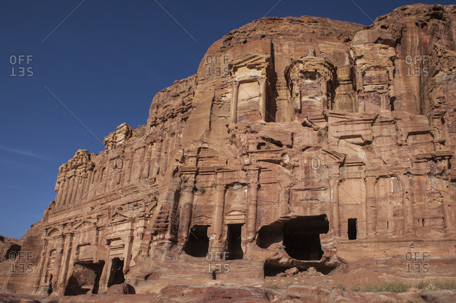 View of part of the ancient city of Petra, Jordan