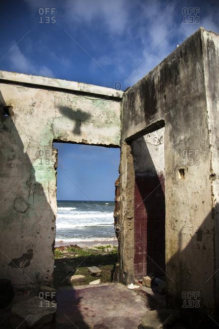 House destroyed by the 2004 tsunami, Moratuwa, Sri Lanka.