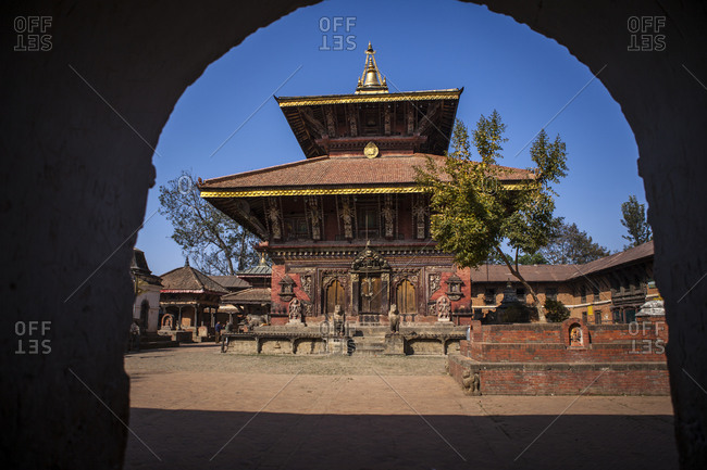 View of the the Changu Narayan Temple near Bhaktapur, Nepal