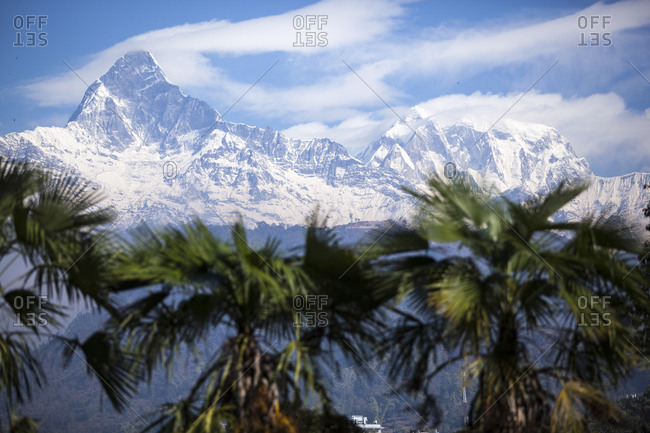 View of the Annapurna Massif in Pokhara, Nepal
