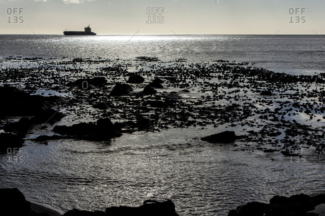 Tanker sailing at Cape Town, South Africa