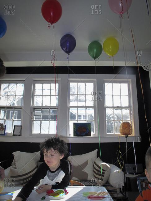 Boy celebrating his birthday