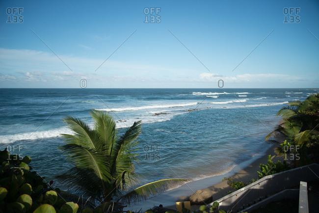 Caribbean beach in San Juan, Puerto Rico