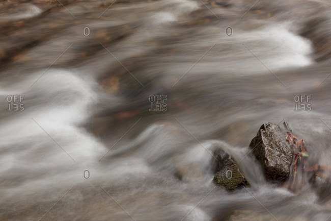 Flowing river in the Great Smoky Mountains National Park
