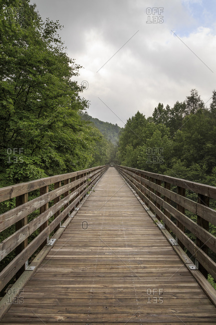 Wooden bridge in the Jefferson National Forest