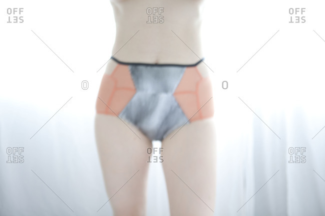 Midsection of a woman in underwear