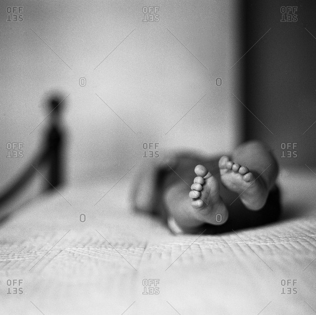 Close up of newborn's feet