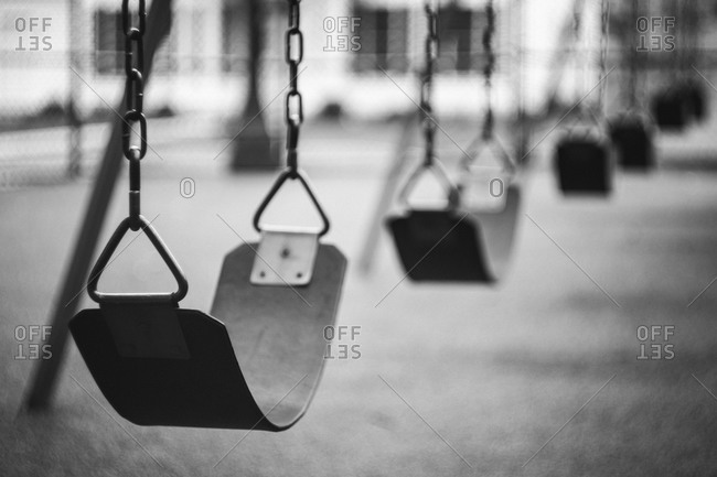 Swing set at a playground