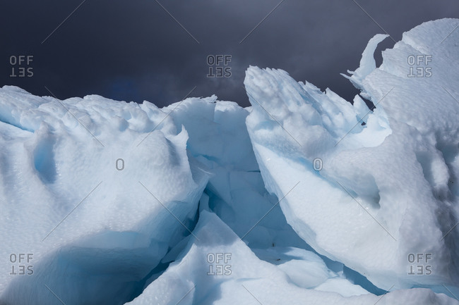 Beached iceberg in Antarctica