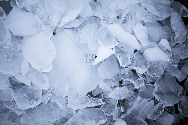 Chunks of glacial ice in Antarctica