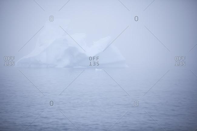View of an iceberg in the Antarctic Ocean