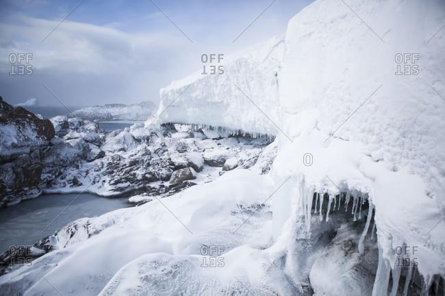 Buenos Aires glacier meets the Antarctic Ocean in Antarctica