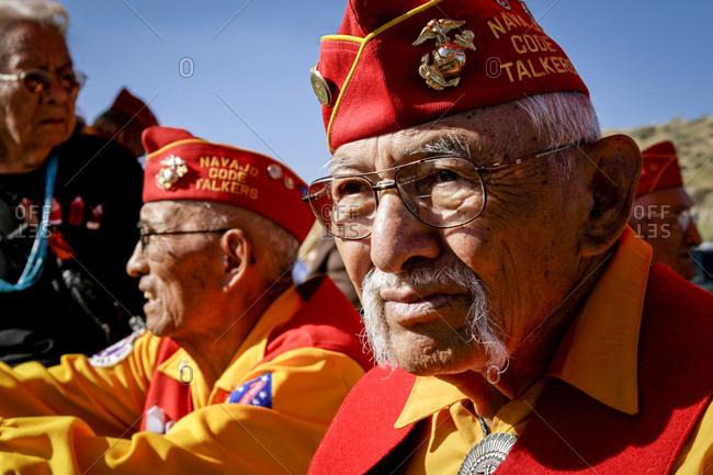 Gallup, New Mexico, USA - July 17, 2014: Navajo Code Talkers