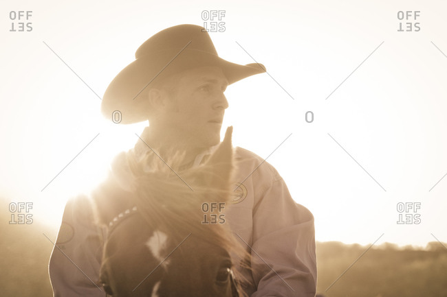 New Mexico, USA - May 11, 2013: Portrait of a rodeo rider in Truth or Consequences, New Mexico, USA