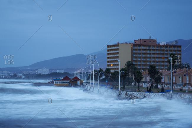 Buildings on a Spanish seacoast